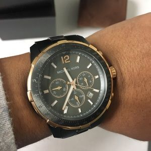 NWT- Matte Black and Rose Gold Michael Kors Watch